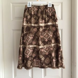 Limited Too Brown Skirt Size 10